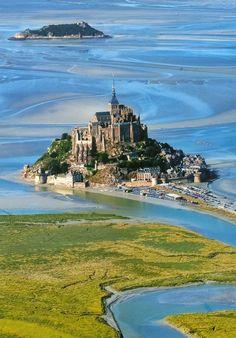 Castillo Mont Saint-Michel, France