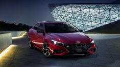 Hyundai Elantra N Line packages a sporty 4-door sedan with 200 horsepower and a six-speed manual. Used Hyundai, Hyundai Cars, Hyundai Models, Hyundai Canada, New Car Wallpaper, Car Backgrounds, Upcoming Cars, Performance Cars, Latest Cars