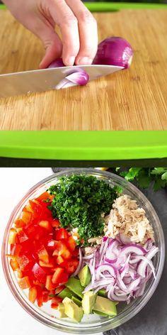 Salad Recipes Healthy Lunch, Best Salad Recipes, Easy Salads, Lunch Recipes, Healthy Snacks, Vegetarian Recipes, Dinner Recipes, Recipes For Salads, Tuna Salad Recipes