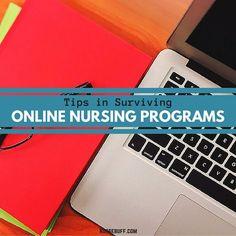 Tips in Surviving Online Nursing Programs #Nursebuff #Nurse #Programs
