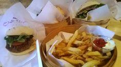 Home made fries + Wagyu burger @ Shisho burger