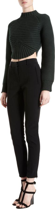 Alexander Wang Rib Knit Cropped Sweater Handarbeiten ☼ Crafts ☼ Labores  ✿❀⊱╮.•°LaVidaColorá°•.❀✿⊱╮  http://la-vida-colora.joomla.com
