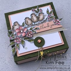 Free as a Bird Gift Set, Stampin' Up! Free as a Bird Gift Set, Stampin' Up! Free as a Bird Gift Set, Stampin' Up! Free as a Bird Gift Set, Stampin' Up! Pink Cards, Pretty Packaging, Box Packaging, Stampin Up Catalog, Stamping Up Cards, Chocolate Box, Craft Fairs, Homemade Cards, Making Ideas