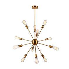 Amazon.com: DAKYUE 12 Lights Brass Pendant Light Sputnik Chandelier Light Fixture: Lamps & Light Fixtures