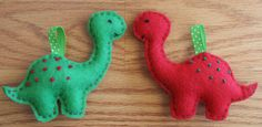 Felt Dinosaur (not just) Christmas Ornaments
