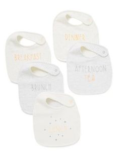 Meal Time Bibs in Giftable Bag   M&S