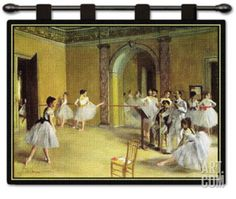 Dance Foyer Wall Tapestry by Edgar Degas at Art.com