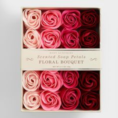 Both beautiful and practical, our Floral Bouquet Soap Petals come in the shape of realistic rosebuds. Use them decoratively in your favorite dish or apothecary jar to fragrance your bathroom, or use a few petals for single-use hand washing. Rose Soap, World Market, Home Made Soap, Handmade Soaps, Floral Bouquets, Rose Petals, Hostess Gifts, Housewarming Gifts, Valentines