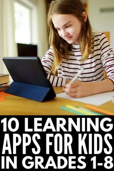 If you're looking for the best educational apps for kids in elementary school to keep your children engaged and learning at home, this list is for you! Elementary School Office, Elementary Schools, School Teacher, Best Learning Apps, Stem Learning, Blended Learning, Educational Websites For Kids, Kids Education, Bilingual Education