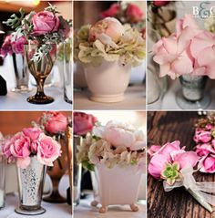 DIY centerpiece ideas... inexpensive... and different colors than this