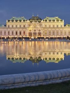 size: Photographic Print: Castle Belvedere During the Advent, Vienna, Austria by Rainer Mirau : Beautiful Places To Visit, Places To See, Beautiful Interiors, Beautiful Gardens, Dream City, Vienna Austria, Salzburg, Vacation Destinations, Viajes