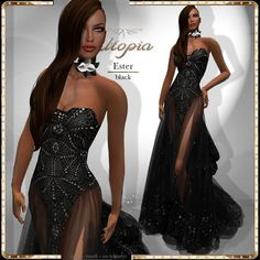 Utopia Ester black_Appliers Included!