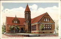 This was at one time a beautiful home.  Warder Public Library Springfield Ohio
