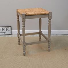 Light Grey Contemporary Styled Bar Stool Comfortable Woven Rush Seat 29 Inches #BarStool #LightGrey #ContemporayStyled #Comfortable #WovenRush #Seat #Stools #Furniture #Kitchen #Dining #Home #HomeDecor #29Inches