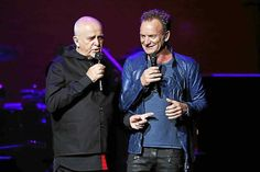 Review: Sting and Peter Gabriel play a winning game of Rock Paper Scissors at The Pepsi Center in Denver.