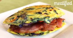 A bacon and egg sandwich for the gluten & grain free people. Sandwich your bacon in a mini frittata! No hangover required!