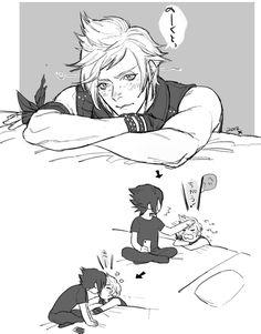 WTF??? O_O Noctis x promto -_-<<< yes! Two boys that I always ship!