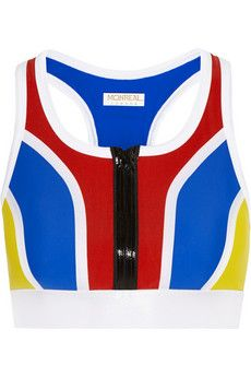 Monreal London Color-block stretch sports bra | NET-A-PORTER