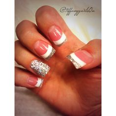 Current solar nails. French tips with sparkles. I'm in love.