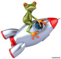 """Téléchargez la photo libre de droits """"Fun frog"""" créée par julien tromeur au meilleur prix sur Fotolia.com. Parcourez notre banque d'images en ligne et trouvez l'image parfaite pour vos projets marketing !"""