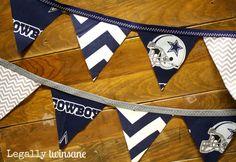 Fabric Bunting banner Dallas Cowboys football by LegallyTwinsane, $12.00