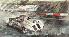 Porsche 550 Spyder at Le Mans