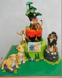 All of the figurines are made out of fondant and are edible.