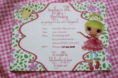 Lalaloopsy birthday invitation
