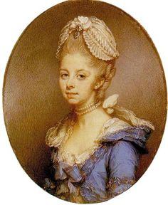 Charlotte of Mecklenburg-Strelitz (Sophia Charlotte; 19 May 1744 – 17 November was by marriage to King George III the Queen of Great Britain and Ireland from her wedding in 1761 until the uni… Rey George, King George, 18th Century Clothing, 18th Century Fashion, 19th Century, Pompadour, Queen Sophia, The Frankenstein, Miniature Portraits