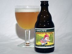 Houblon Chouffe Dobbelen IPA Tripel - A unique marriage between the English tradition of IPAs, the new American revolution of Imperial IPAs and the classic Belgian way of brewing. Houblon Chouffe, although very much hopped as it is, showcases the unique balance between a very strong IPA and a very special Belgian Tripel exclusively created for this ale.