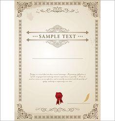 Vector Templates of certificates design set 01