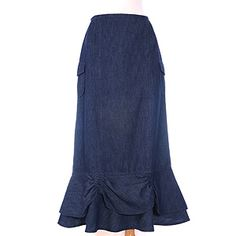 I actually bought this skirt, but it was a little too straight to be comfortable. Love the double ruffle at the bottom though!