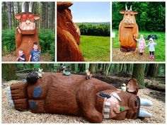 Just a few of our Gruffalo sculptures! http://www.forestry.gov.uk/gruffalo