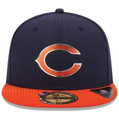 Men s Chicago Bears New Era Navy Blue 2015 NFL Draft On-Stage 59FIFTY Fitted  Hat 1de441021