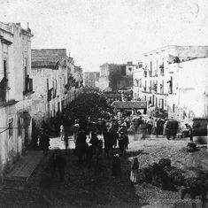 ciudad de mexico romeria en torno a la acequia de Roldan ,viernes de Dolores en 1870
