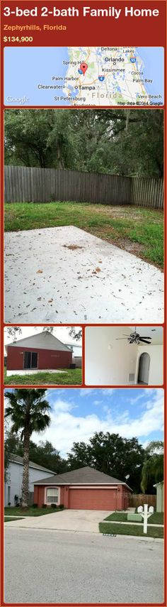 3-bed 2-bath Family Home in Zephyrhills, Florida ►$134,900 #PropertyForSale #RealEstate #Florida http://florida-magic.com/properties/80721-family-home-for-sale-in-zephyrhills-florida-with-3-bedroom-2-bathroom