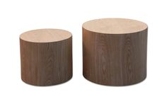 The Silo Timber side tables are functional and stylish. They are made from mdf with an oak veneer, and the smaller one can be stacked inside the larger one.
