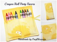 Crayon Rolls Party Favors made from Big Bird by FrogBlossoms
