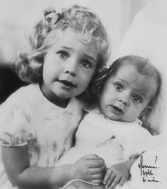 Three year-old Princess Christina of Sweden with her six-month-old brother Prince Carl Gustaf Folke Hubertus (later King Carl XVI Gustaf of Sweden), December 1946. Photo: Keystone