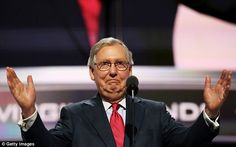 Senate Majority Leader Mitch McConnell of Kentukcy said Hillary Clinton would 'do anything' to get elected