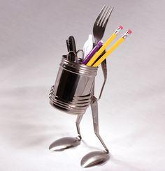 Fork Figure Pencil Cup Holder