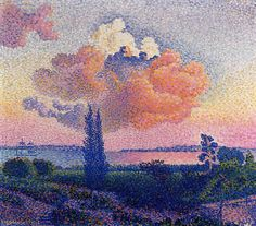 Le nuage rose, huile sur toile de Henri Edmond Cross (1856-1910, France)