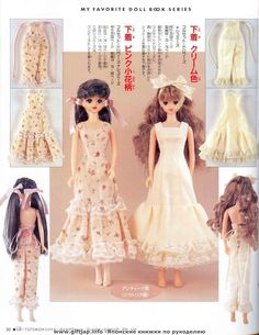 Album Archive - My favorite doll book 15 Jenny Doll Clothes Patterns, Clothing Patterns, Sewing Dolls, Little Doll, Barbie Dress, Formal Dresses, Wedding Dresses, Bjd, Fashion Dolls
