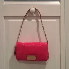 Kate Spade Mini Mirra handbag Never been used with tags and dust bag! A great small over the shoulder purse for a night out or wedding. Built in slots for your license and credit cards! trades kate spade Bags Shoulder Bags
