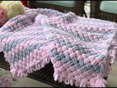 Alize Puffy hasır örgü nasıl yapılır? bebek battaniyesi-baştan sona anlatım - YouTube