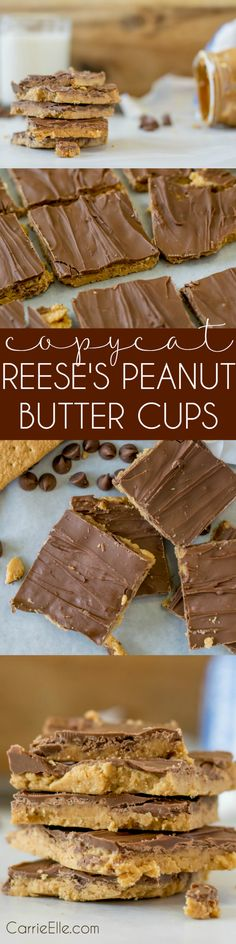 Copycat Reese's Peanut Butter Cups Recipe ! Yum! only five ingredients, and NO cooking required!