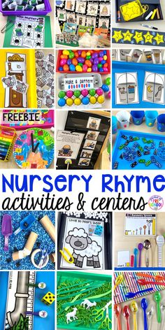 Nursery Rhyme Themed Activities and Centers
