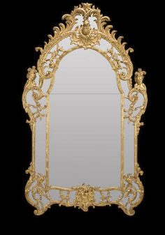 A Régence giltwood mirror early 18th century