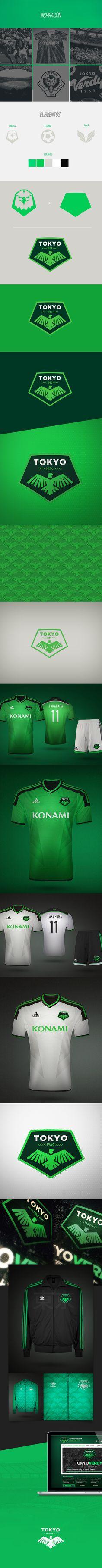 J-League · Tokyo Verdy on Behance Football Design 143dfcf07