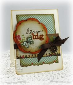 Another great sentiment on a beautiful card by Poetic Artistry: Dream Big
